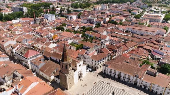 Thumbnail for Aerial View Historic City Center of Tomar, Portugal