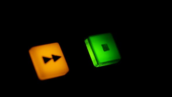 Cover Image for Rewind Button And Blinking Stop Button on VCR