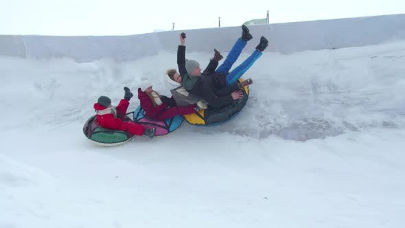 Extreme Family Tubing in Slow Motion