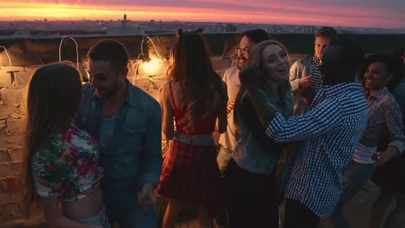 Thumbnail for Dancing at Romantic Rooftop Party