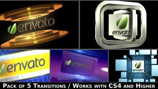 Thumbnail for Broadcast Logo Transition Pack V2
