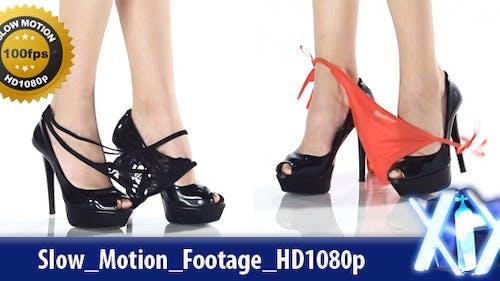 High Heels & Slipping Thong