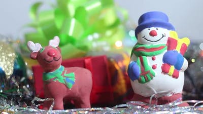 Toy Snowman And Christmas Toys