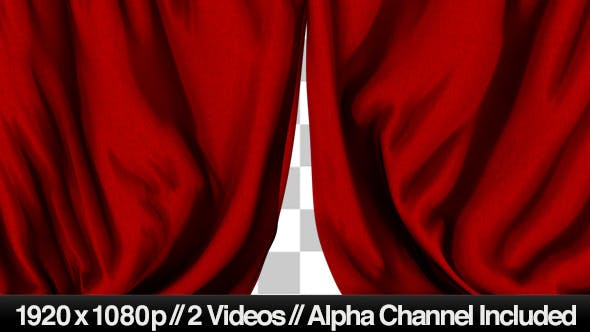 Thumbnail for Red Curtain Closing & Opening Transition - 2 Style