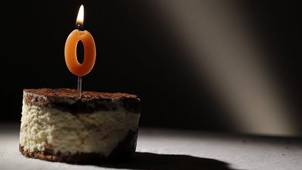 Thumbnail for Candle 0 In Tiramisu Cake