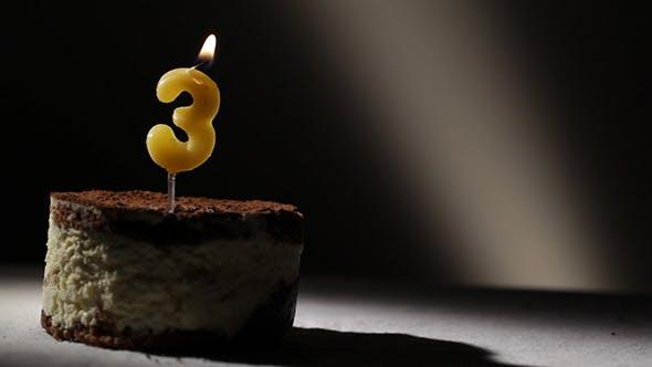 Thumbnail for Candle 3 In Tiramisu Cake