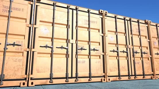 Thumbnail for Row of Cargo Shipping Containers