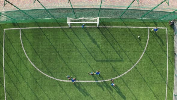 Thumbnail for Young Footballers Scoring Goal After Corner Kick