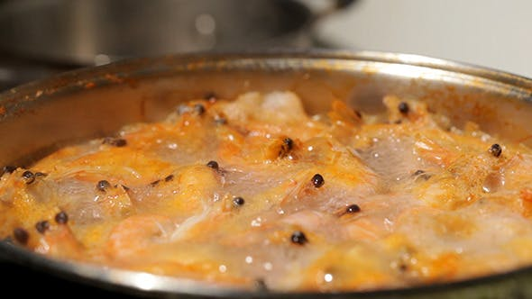 Thumbnail for Shrimp Are Simmered In A Saucepan 2