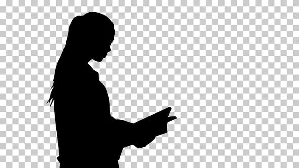 Thumbnail for Silhouette Attractive medicine student or doctor with notebook