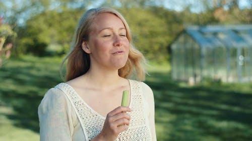 Beautiful Vegan Eating Homegrown Celery