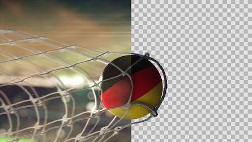 Soccer Ball Scoring Goal Night - Germany