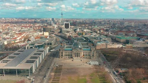 Aerial View of Reichstag in Berlin