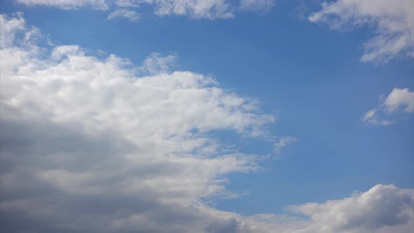 Thumbnail for Clouds Cover the Blue Sky, Timelapse. Air Flows in the Atmosphere