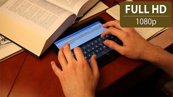 Thumbnail for Typing Homework on a Tablet