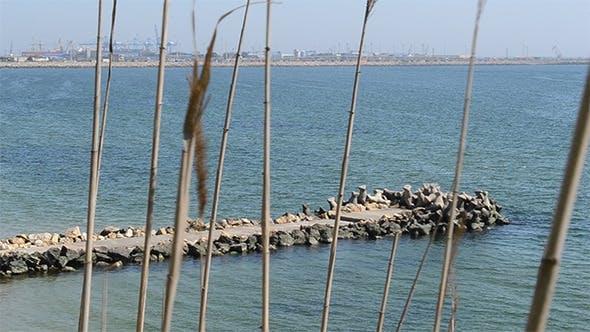 Thumbnail for Stone Made Pier at Sea
