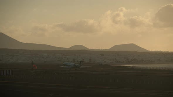 Thumbnail for Airplane Arrival To Scenic Coastal Town