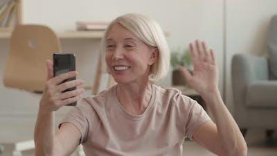 Cheerful Grandma on Videocall