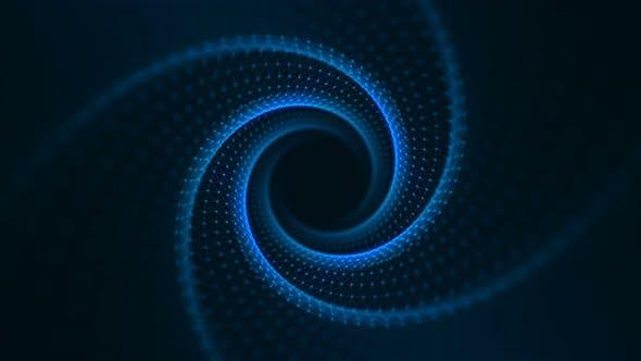 Thumbnail for VJ Fractal Blue Light Tunnel. Seamless Loop