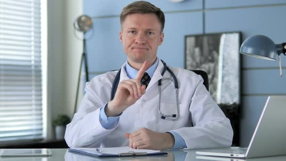 Thumbnail for No, Restricting Doctor By Waving Finger