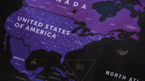 Cover Image for Usa On World Map