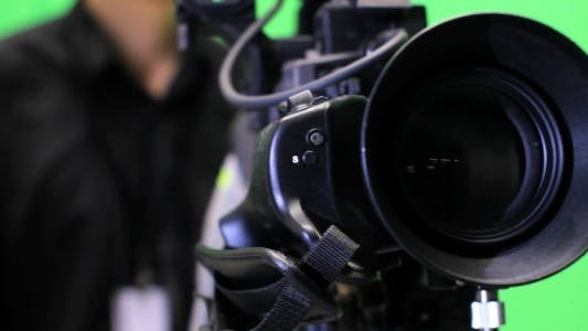 Thumbnail for TV Camera Operator on Green Screen