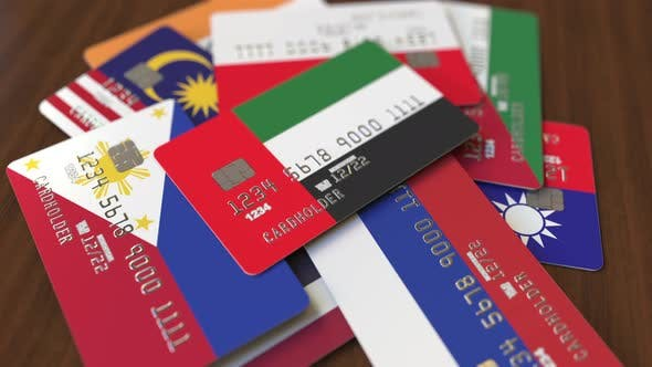Thumbnail for Emphasized Bank Card with Flag of the UAE