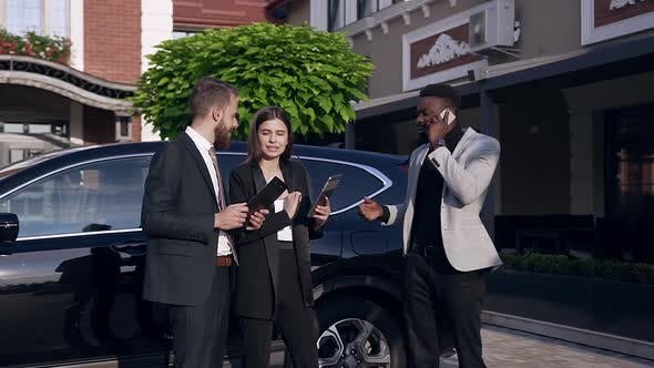 Thumbnail for Attractive Young Mixed Races Business People Standing