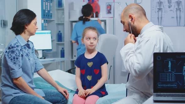 Little Girl Having Medical Check Up