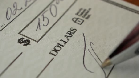 Cover Image for Writing a Cheque for Payment
