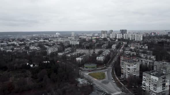 Aerial view Kharkiv city, Pavlove Pole district