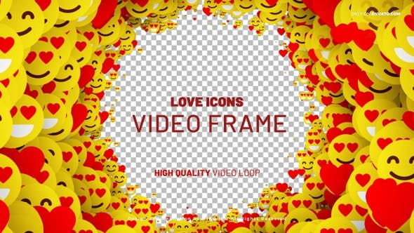 Love Icons Frame