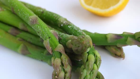 Thumbnail for Close-Up Asparagus With Lemon. Healthy Eating Concept.
