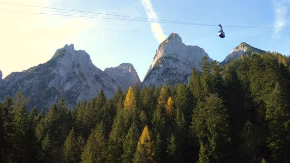 Cable Car At The Dachstein Region