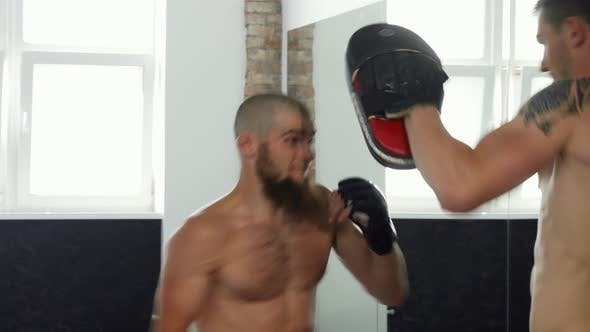 Thumbnail for Professional Mma Fighters Practicing at Sports Club
