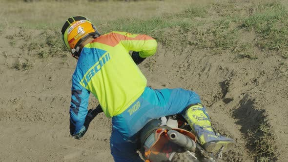 Thumbnail for Motocross riding and leaving mud behind