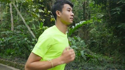 Asian Man Running
