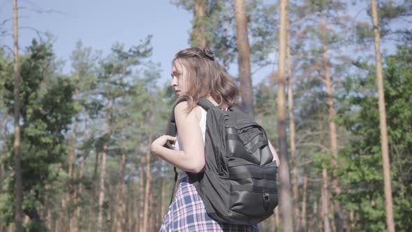Thumbnail for Young Woman Gets Lost in the Forest, She Calling for the Help. The Girl Is in Despair, She Is Alone