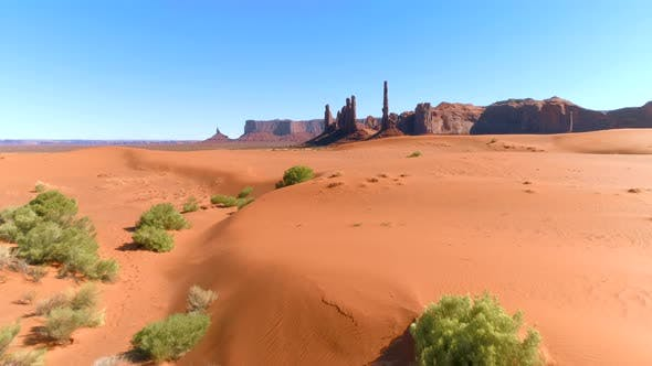 Thumbnail for Aerial  View of the High Sharp Peaks of the Monument Valley
