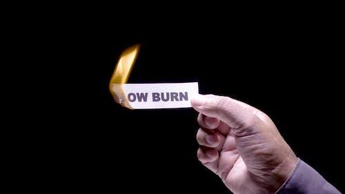 Paper Burning Slow Burn