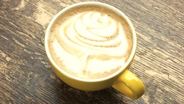 Rose Latte Art.