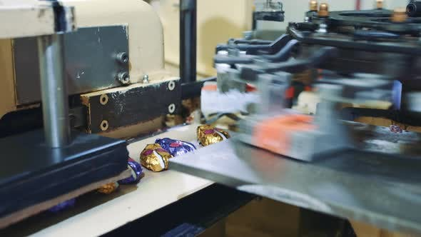 Thumbnail for Industrial Machine Wrapping Candies. Candy Factory