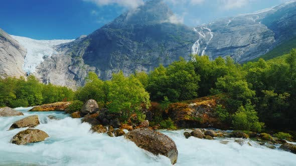 Thumbnail for Pan Shot: The Incredible Nature of Norway Is a Turbulent River