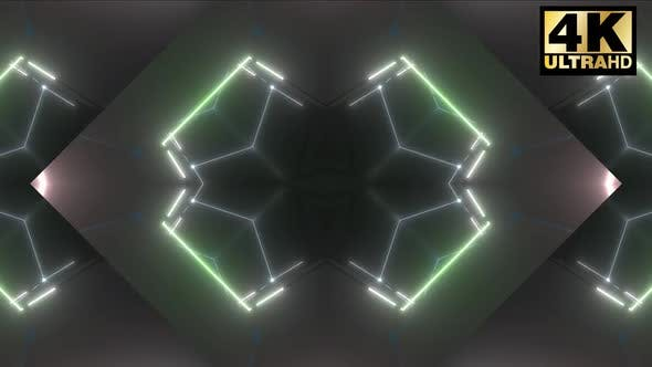 Thumbnail for 5 Geometric Neon Shape Pack 4k