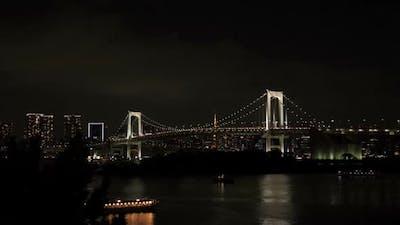 Bridge In City Night