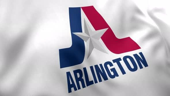 Arlington City Flag, Texas - 4K