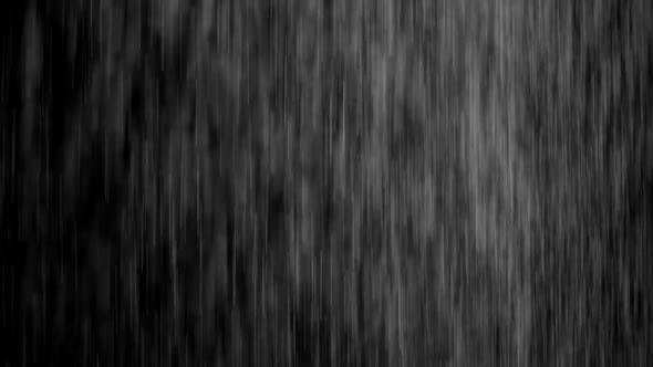 realistic raining on black background