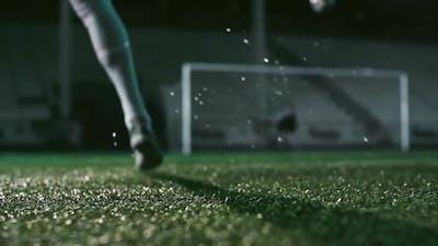 Powerful Soccer Shot