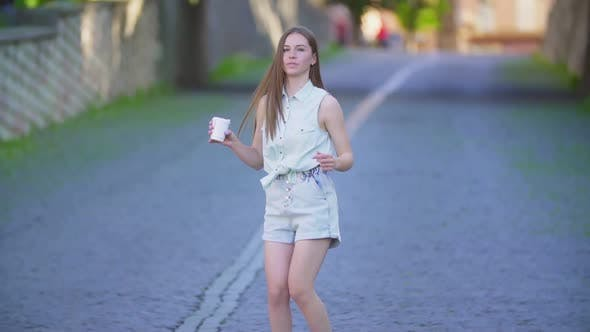Thumbnail for Girl in Shorts with Long Hair