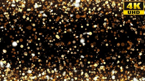 Thumbnail for Gold Particle Background Loops Pack V1